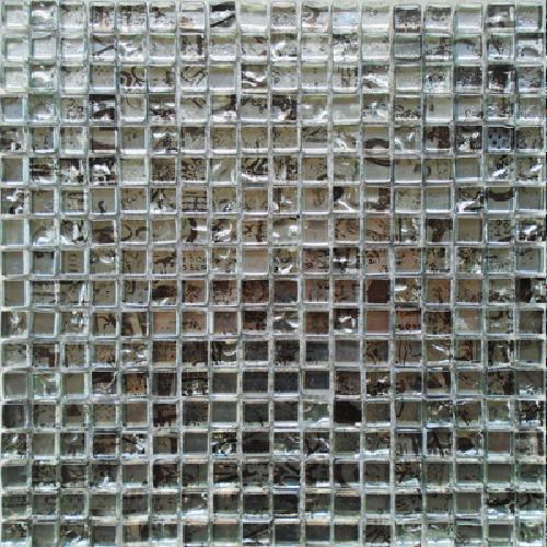 Malla Graffiti Silver - Mosaique en verre 30x30cm - unité - Echantillon Decora