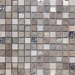 Malla Urales Gris - Mosaique imitation bois - grès cérame 30x30cm - unité - Echantillon Decora