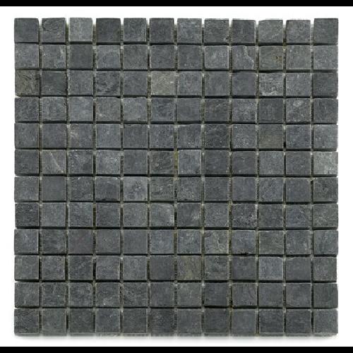 Mosaique ardoise noire 2.3x2.3 cm - unité - Echantillon - zoom