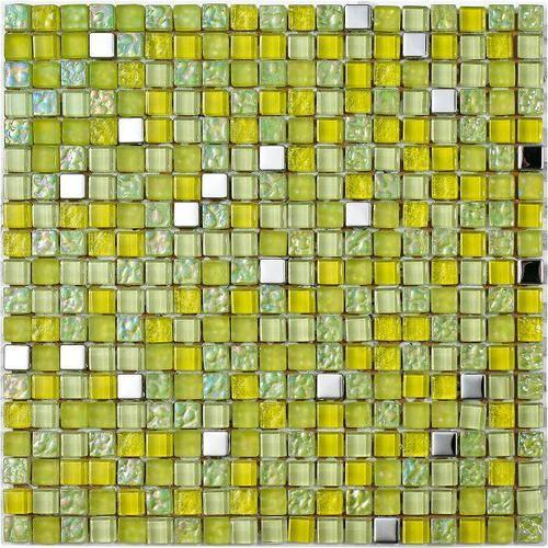 Mosaique Lagos Lima - verre métal 30x30 -     - Echantillon - zoom
