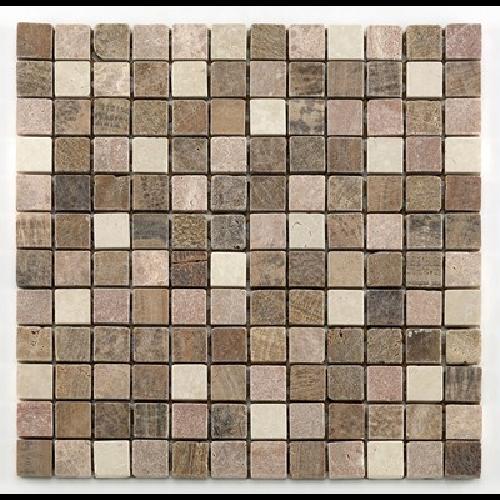 Mosaique marbre beige - Echantillon - zoom