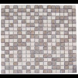 Mosaique marbre multicouleur 1 1.5x1.5 cm - unité - Echantillon Barwolf