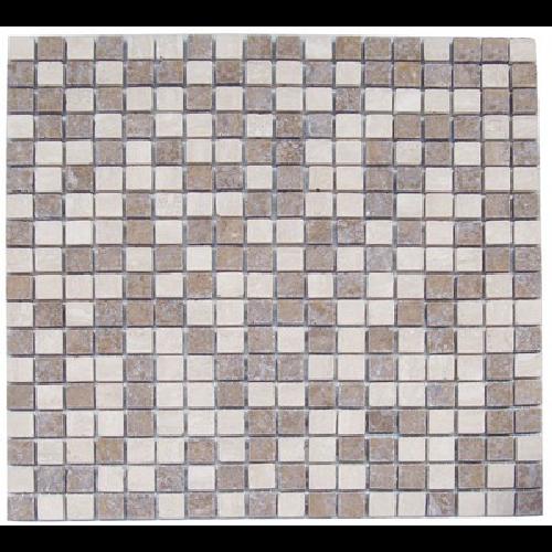 Mosaique marbre multicouleur 1 1.5x1.5 cm - unité - Echantillon - zoom