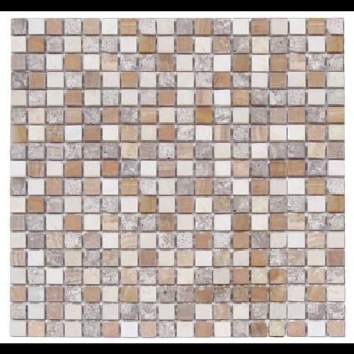 Mosaique marbre multicouleur 2 1.5x1.5 cm - unité - Echantillon - zoom
