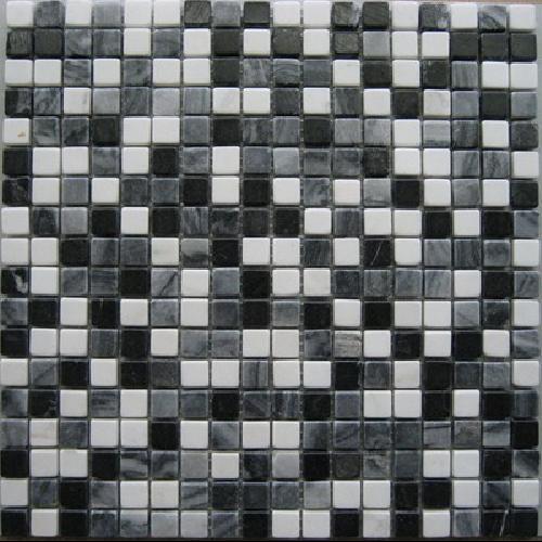 Mosaique marbre multicouleur 4 1.5x1.5 cm - unité - Echantillon - zoom