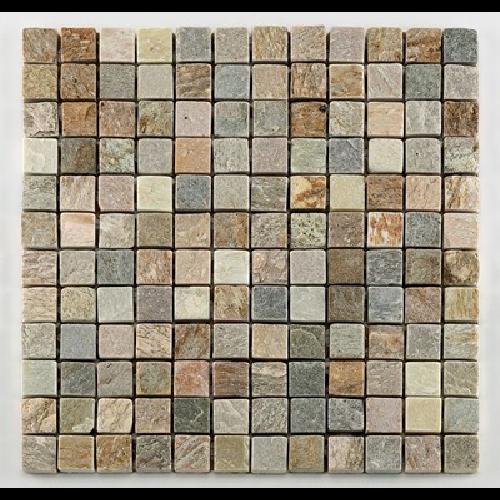 Mosaique quartzite 2.3x2.3 cm - unité - Echantillon - zoom