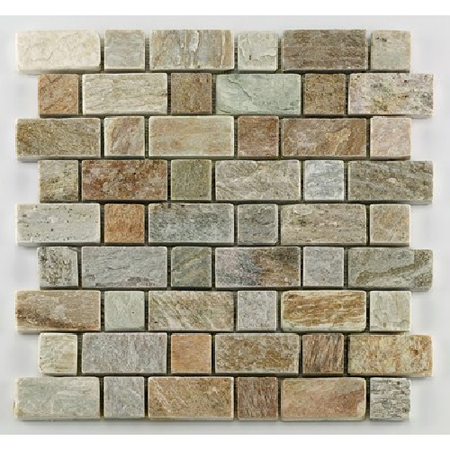 Mosaique quartzite 3x3 - 4.8 cm - unité - Echantillon - zoom