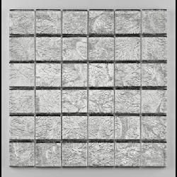 Mosaique salle de bain Glasmosaik argent 4.8x4.8 cm - 30x30 - unité - Echantillon Barwolf