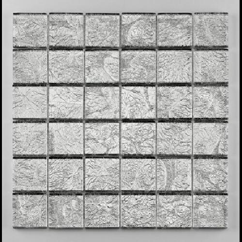 Mosaique salle de bain Glasmosaik argent 4.8x4.8 cm - 30x30 - unité - Echantillon - zoom