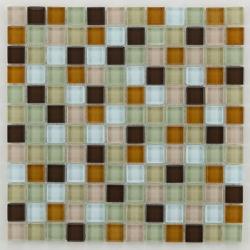 Mosaique salle de bain Glasmosaik beige 2.3x2.3 cm - 30x30 - unité - Echantillon Barwolf