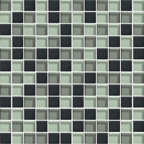 Mosaique salle de bain Glasmosaik graffitmix 2.3x2.3 cm - 30x30 - unité - Echantillon Barwolf