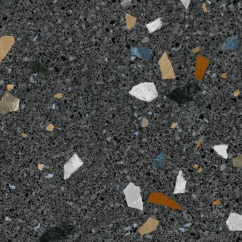 Carreau style granito coloré 80x80 cm STRACCIATELLA-R Grafito -   - Echantillon - zoom