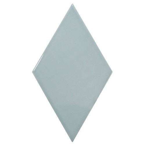 Faience losange bleu brillant 15x26cm RHOMBUS WALL ASH BLUE 22752 -   - Echantillon Equipe