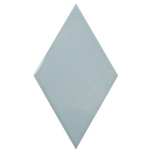 Faience losange bleu brillant 15x26cm RHOMBUS WALL ASH BLUE 22752 -   - Echantillon - zoom