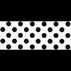 Faience murale blanche à pois noirs RIMINI 20x50cm -   - Echantillon Vives Azulejos y Gres
