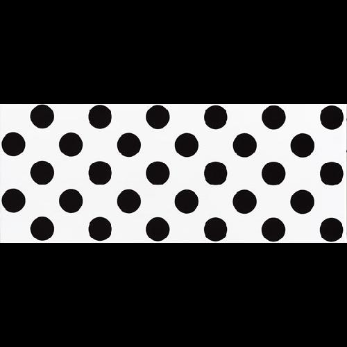 Faience murale blanche à pois noirs RIMINI 20x50cm -   - Echantillon - zoom