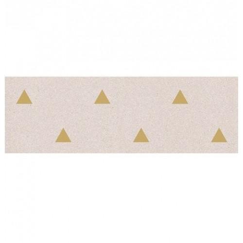 Faience murale creme motif triangle or 32x99cm BARDOT-R Crema - 1 - Echantillon Vives Azulejos y Gres