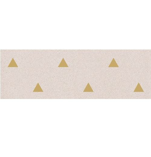 Faience murale creme motif triangle or 32x99cm BARDOT-R Crema - 1 - Echantillon - zoom