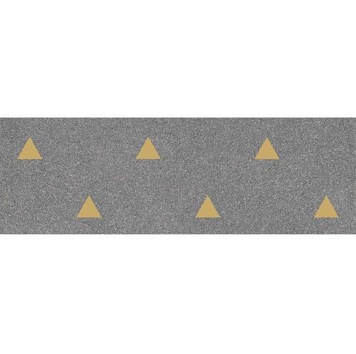 Faience murale graphite motif triangle or 32x99cm BARDOT-R Grafito -   - Echantillon - zoom
