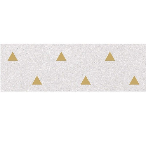 Faience murale blanche motif triangle or 32x99cm BARDOT-R Humo - 1 - Echantillon - zoom
