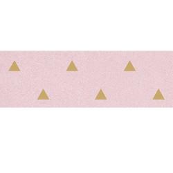 Faience murale rose motif triangle or 32x99cm BARDOT-R Rosa - 1 - Echantillon Vives Azulejos y Gres