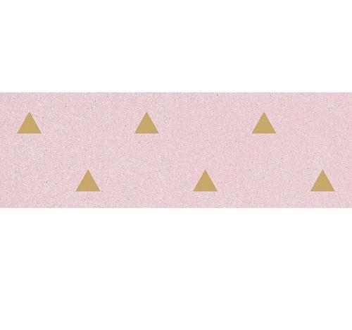 Faience murale rose motif triangle or 32x99cm BARDOT-R Rosa - 1 - Echantillon - zoom