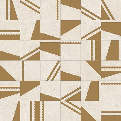 Carrelage motifs géométriques 20x20 cm Kokomo Creme Or -   - Echantillon - zoom
