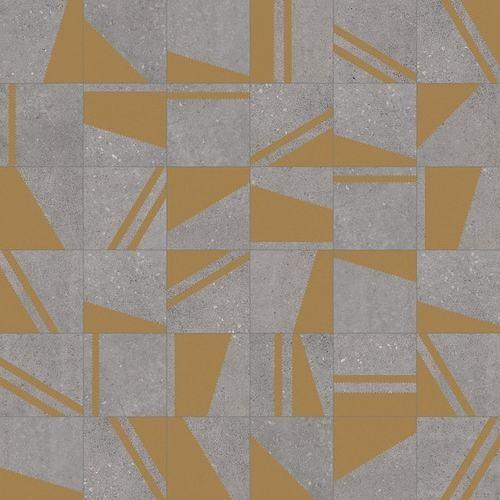 Carrelage motifs géométriques 20x20 cm Kokomo Grafito Or -   - Echantillon - zoom
