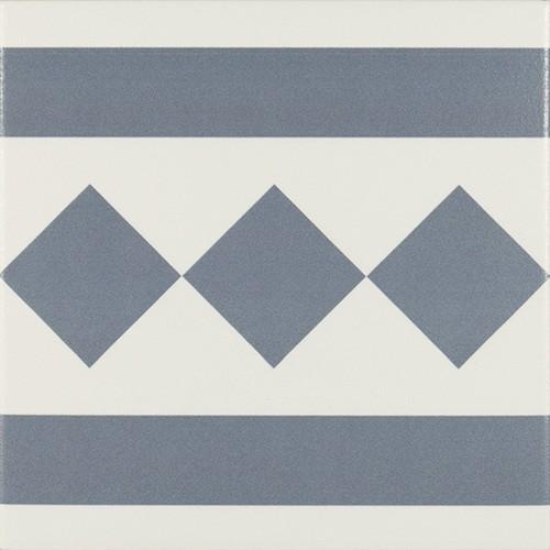 Carrelage de bordure 20x20 cm ANTIGUA AZUL -   - Echantillon Ribesalbes