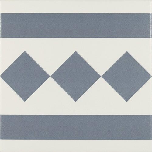 Carrelage de bordure 20x20 cm ANTIGUA AZUL -   - Echantillon - zoom