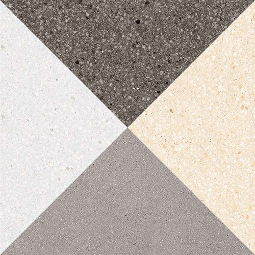 Carrelage style scandinave triangles 20x20 cm CESTIO multicouleur -   - Echantillon - zoom