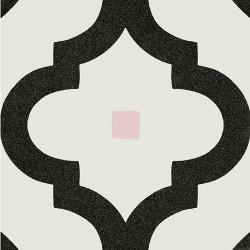 Carrelage scandinave noir points multicouleurs 20x20 cm LADAKHI Grafito -   - Echantillon Vives Azulejos y Gres