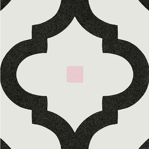 Carrelage scandinave noir points multicouleurs 20x20 cm LADAKHI Grafito -   - Echantillon - zoom