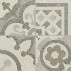 Carrelage Gris/Beige imitation décor carreau ciment 45x45 cm RIVIERA PEARL -   - Echantillon Baldocer