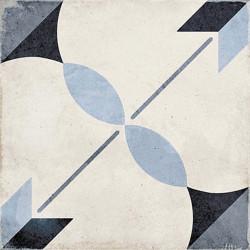 Carrelage style ciment étoile bleue 20x20 cm ART NOUVEAU ARCADE BLUE 24411 -   - Echantillon Equipe