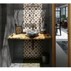 Carrelage style ciment 20x20 cm ART NOUVEAU EMPIRE COLOUR 24400 -   - Echantillon Equipe