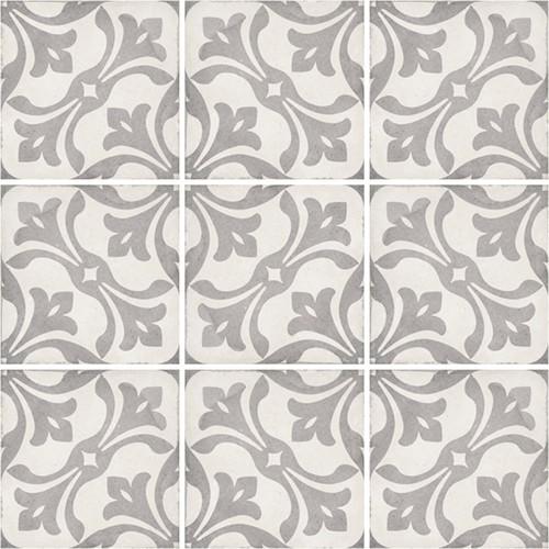 Carrelage style ciment 20x20 cm ART NOUVEAU LA RAMBLA GREY 24419 -   - Echantillon - zoom
