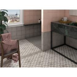Carrelage style ciment 20x20 cm ART NOUVEAU LA RAMBLA GREY 24419 -   - Echantillon Equipe
