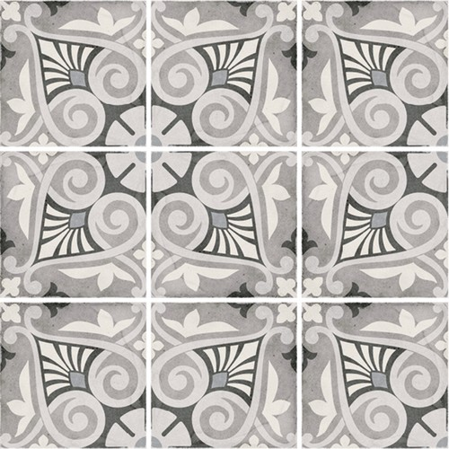 Carrelage style ciment 20x20 cm ART NOUVEAU OPERA GREY 24418 -   - Echantillon - zoom