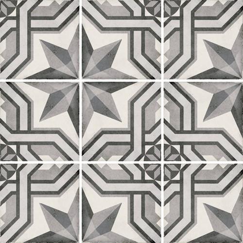 Carrelage style ciment 20x20 cm ART NOUVEAU CINEMA GREY 24414 -   - Echantillon - zoom