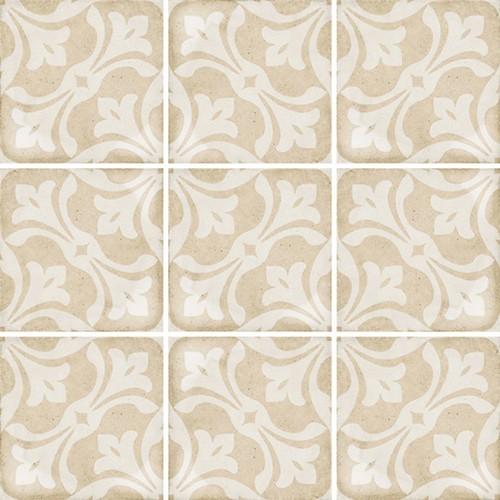 Carrelage style ciment beige 20x20 cm ART NOUVEAU LA RAMBLA BISCUIT 24408 -   - Echantillon Equipe