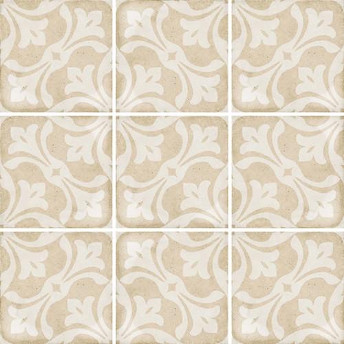 Carrelage style ciment beige 20x20 cm ART NOUVEAU LA RAMBLA BISCUIT 24408 -   - Echantillon - zoom