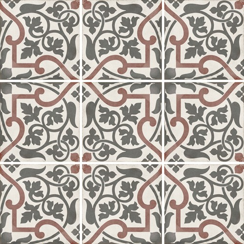 Carrelage style ciment 20x20 cm ART NOUVEAU FOLIES BERGÈRE 24406 -   - Echantillon - zoom