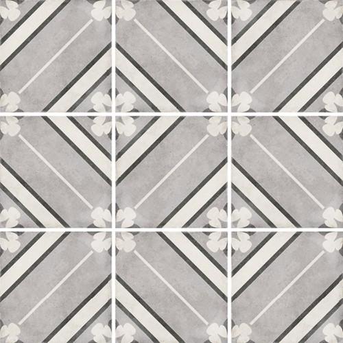Carrelage style ciment 20x20 cm ART NOUVEAU INSPIRE GREY 24415 -   - Echantillon - zoom