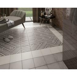 Carrelage style ciment 20x20 cm ART NOUVEAU INSPIRE GREY 24415 -   - Echantillon Equipe
