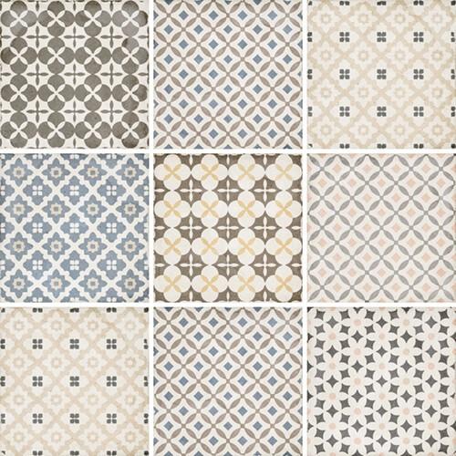 Carrelage style ciment patchwork 20x20 cm ART NOUVEAU ALAMEDA COLOUR 24412 -   - Echantillon Equipe