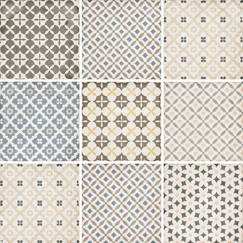 Carrelage style ciment patchwork 20x20 cm ART NOUVEAU ALAMEDA COLOUR 24412 -   - Echantillon - zoom
