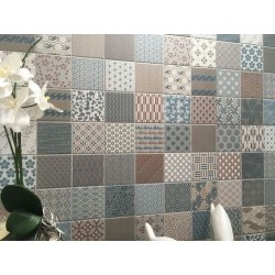 Carrelage sol ou mur style japonais KIMONO 44x44 cm -   - Echantillon Realonda