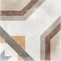 Carrelage imitation carreau de ciment ancien décor Grès Cérame 60x60 cm CELENO - 1 - Echantillon Arcana