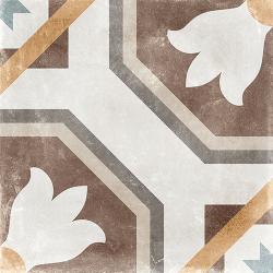 Carrelage imitation carreau de ciment ancien décor Grès Cérame 60x60 cm SABIK -   - Echantillon Arcana